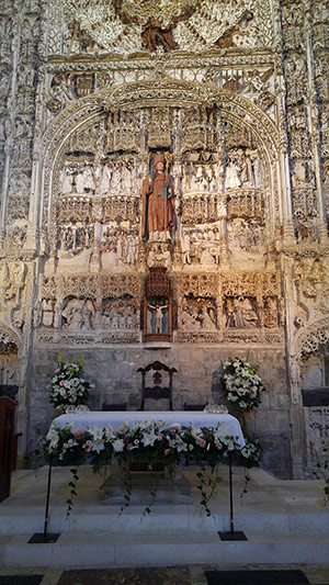 Altar in St. Nicholas in Burgos, Spain