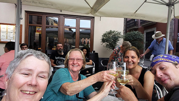 Toasting with friends